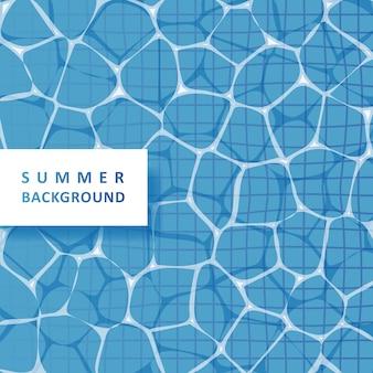 Fundo de água de piscina para o verão
