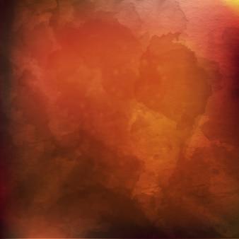 Fundo de aguarela de borrão marrom com tons de cor laranja amarela