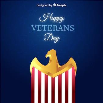 Fundo de águia dourada de dia dos veteranos