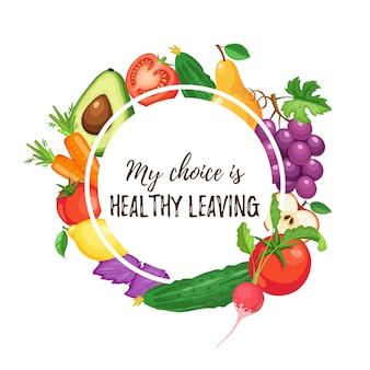 Fundo de alimentação saudável