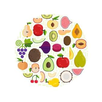 Fundo de alimentos orgânicos