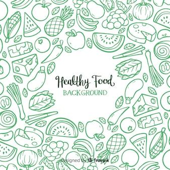 Fundo de alimentos saudáveis