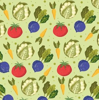 Fundo de alimentos vegetais