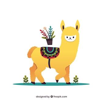 Fundo de alpaca bonito em estilo simples