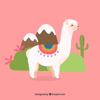 Fundo de alpaca bonito na natureza