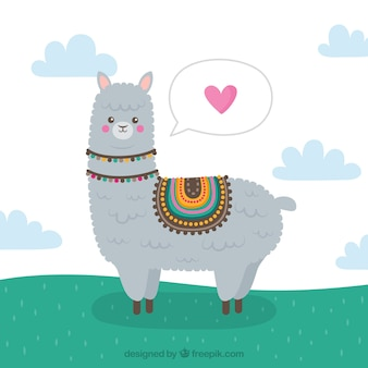 Fundo de alpaca com conceito de amor