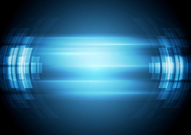Fundo de alta tecnologia azul abstrato. ilustração de desenho vetorial