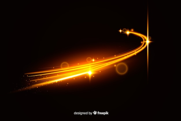 Fundo de alta velocidade de trilha de luzes