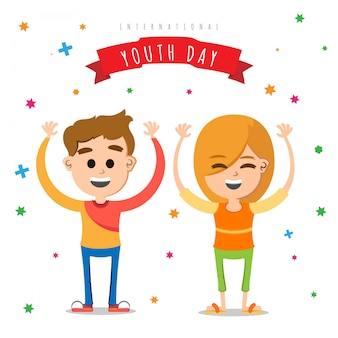 Fundo de amigos comemorando o dia da juventude