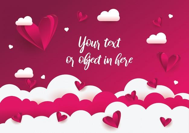 Fundo de amor e dia dos namorados