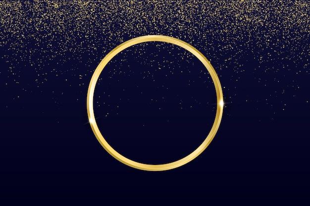 Fundo de anel de ouro