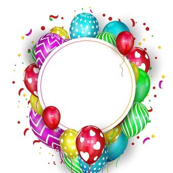 Fundo de aniversário colorido com lugar para texto