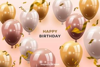 Fundo de Aniversário com Balões