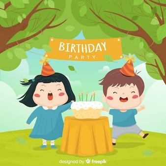 Fundo de aniversário de crianças