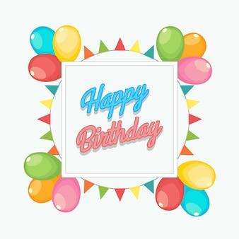 Fundo de aniversário decorativo de balão & festão