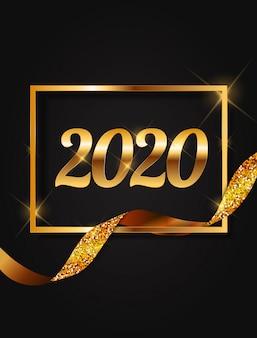 Fundo de ano novo de 2020.