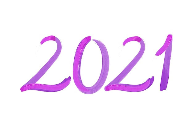 Fundo de ano novo de 2021 em aquarela pincelada