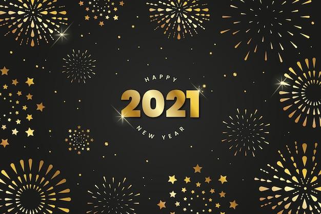 Fundo de ano novo de 2021