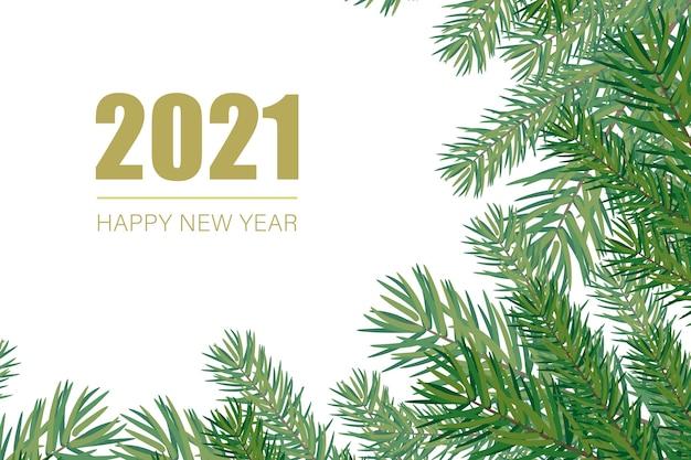Fundo de ano novo de 2021.