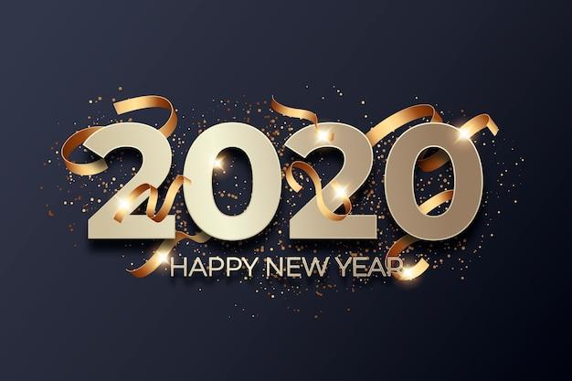 Fundo de ano novo de confete