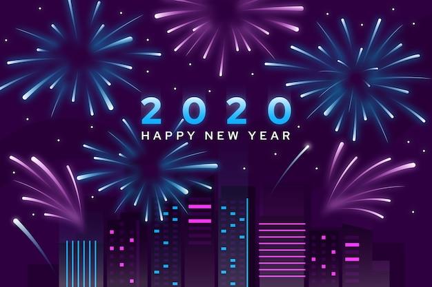 Fundo de ano novo de fogos de artifício