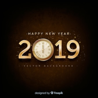 Fundo de ano novo de prata 2019
