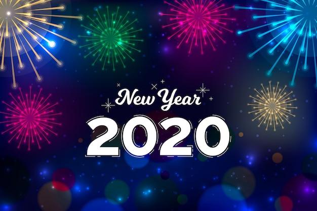 Fundo de ano novo design plano