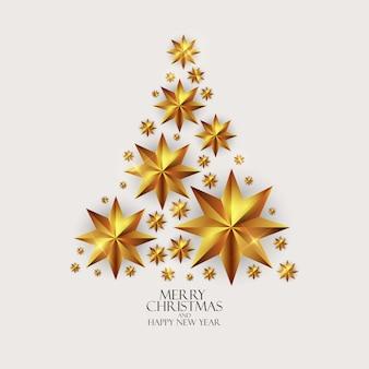 Fundo de ano novo e feliz natal de férias. ilustração vetorial