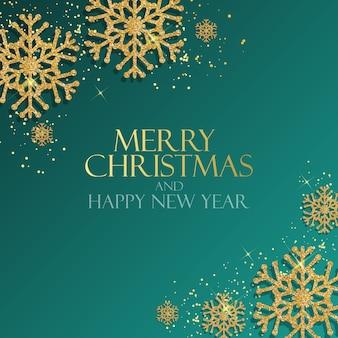 Fundo de ano novo e feliz natal de férias. ilustração