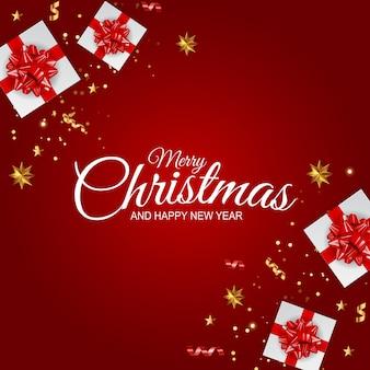 Fundo de ano novo e feliz natal de férias.