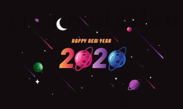 Fundo de ano novo espaço