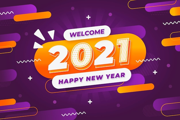 Fundo de ano novo no estilo memphis