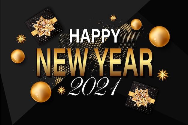 Fundo de ano novo para cartão de felicitações