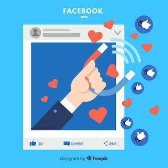 Fundo de anúncios de mídia social