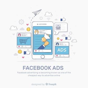 Fundo de anúncios do facebook