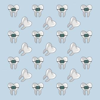 Fundo de aparelho dentário