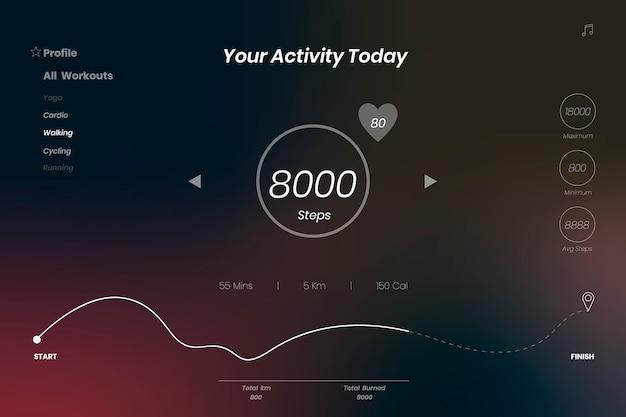 Fundo de aplicativo de atividade