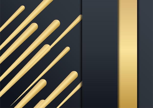 Fundo de apresentação abstrato preto. fundo de ouro preto sobreposição de dimensão geométrica abstrata moderna. fundo de ouro preto marinho elegante com camada de sobreposição. terno para negócios e corporativo