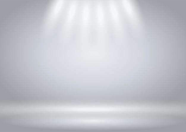 Fundo de apresentação com display iluminado por holofotes