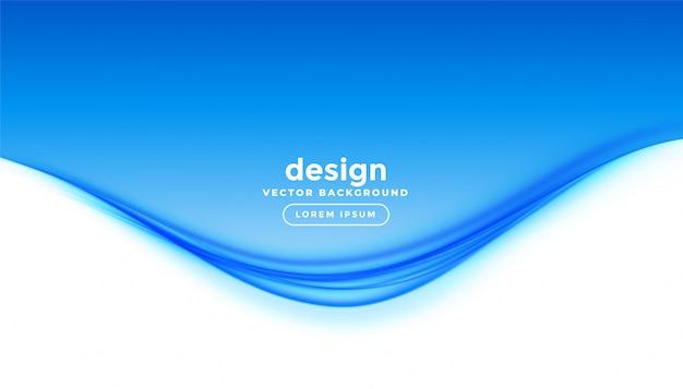 Fundo de apresentação elegante onda azul estilo empresarial