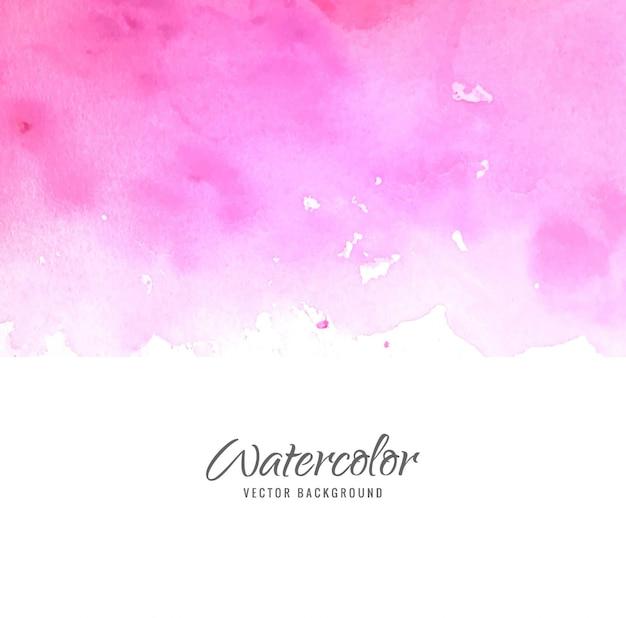 Fundo de aquarela rosa