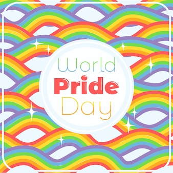 Fundo de arco-íris do dia do orgulho do mundo