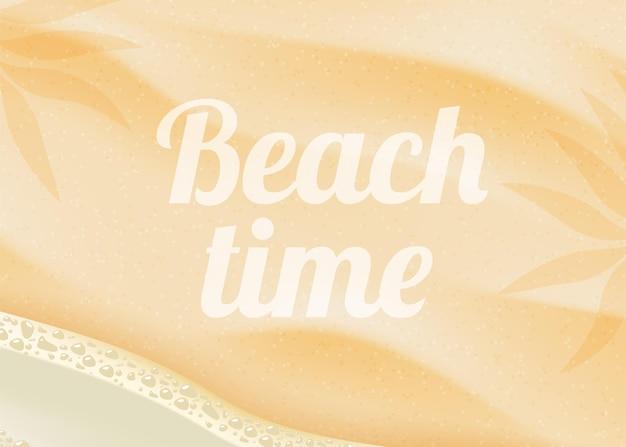 Fundo de areia da praia.