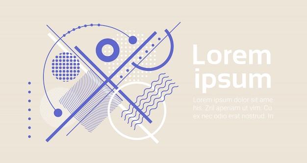 Fundo de arte abstrata com elementos geométricos modernos modelo de banner com espaços de cópia