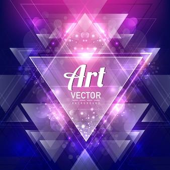 Fundo de arte triangular