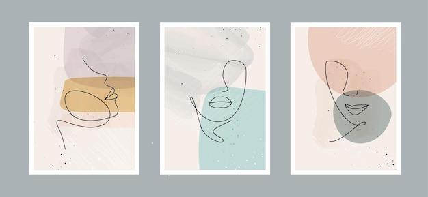 Fundo de artes abstratas com formas diferentes para cartão postal de decoração de parede ou capa de brochura