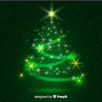 Fundo de árvore de natal elegante feito de ornamentos