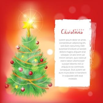 Fundo de árvore de natal