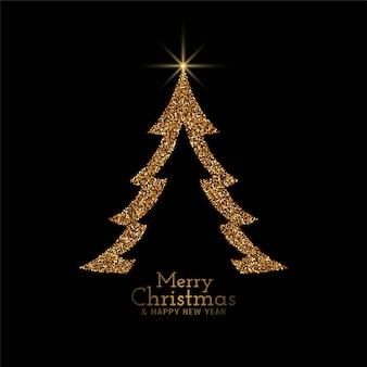 Fundo de árvore decorativa elegante feliz natal