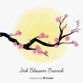 Fundo de árvore linda flor de cerejeira